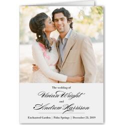 Wedding Program Cards: Grandeur Affair Wedding Program, Grey, 5x7 Folded Program