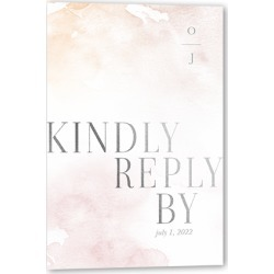 RSVP Cards: Shining Forever Wedding Response Card, Square Corners, Pink found on Bargain Bro Philippines from shutterfly.com for $32.90