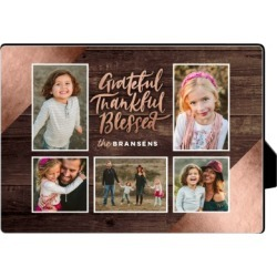 Desktop Plaques: Wooden Grateful Desktop Plaque, Rectangle, 5 x 7 inches, Beige found on Bargain Bro India from shutterfly.com for $24.99