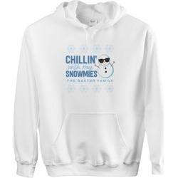 Custom Hoodies: Chillin' With My Snowmies Custom Hoodie, ADULT_HOODIE_DOUBLE_SIDED, S, White, Blue found on Bargain Bro Philippines from shutterfly.com for $54.99