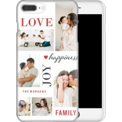 Custom iPhone Cases: Love Joy Family iPhone Case, Slim case, Glossy, iPhone 7 Plus, White found on Bargain Bro Philippines from shutterfly.com for $44.99