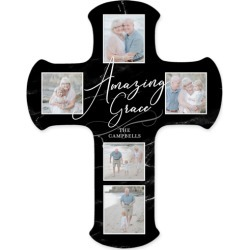 Amazing Grace Wall Cross, Black