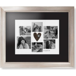 Framed Prints: Rustic Heart Pawprint Framed Print, Metallic, Modern, None, Black, Single piece, wallart_11x14, Brown found on Bargain Bro India from shutterfly.com for $104.98