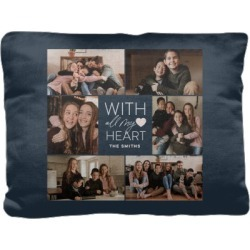 Pillows: All My Heart Collage Pillow, Cotton Weave, Pillow (Ivory), 12 x 16, Single-sided, Black found on Bargain Bro from shutterfly.com for USD $30.38