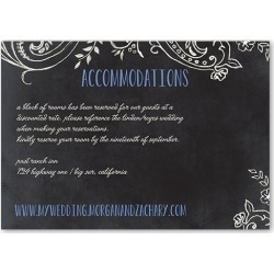 Enclosure Cards: Chalk Celebration Wedding Enclosure Card, Square Corners, Blue