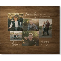 Family Joy Wall Art, Single piece, Wood, 8x10, Brown found on Bargain Bro from shutterfly.com for USD $68.39