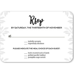 RSVP Cards: Sparkling Foliage Wedding Response Card, Rounded Corners, Black found on Bargain Bro India from shutterfly.com for $2.23
