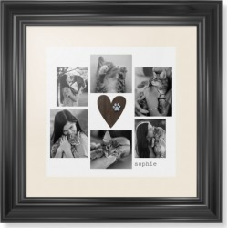 Framed Prints: Rustic Heart Pawprint Framed Print, Black, Classic, White, Cream, Single piece, 12x12, Brown found on Bargain Bro from shutterfly.com for USD $87.38