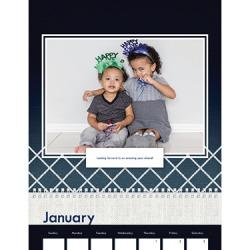Wall Calendar, 12X12, Modern Indigo Calendar