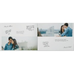 Photo Books: Classic Wedding Guestbook Photo Book, Premium Leather Cover Book, Deluxe Layflat, 8x11 found on Bargain Bro from shutterfly.com for USD $122.34