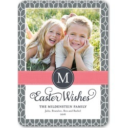 Easter Pattern Easter Card, Rounded Corners, Grey found on Bargain Bro from shutterfly.com for $2.69