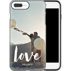 Custom iPhone Cases: Love Script iPhone Case, Silicone liner case, Glossy, iPhone 8 Plus, White found on Bargain Bro Philippines from shutterfly.com for $54.99