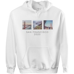 Custom Hoodies: Vacation Gallery of Three Custom Hoodie, ADULT_HOODIE_SINGLE_SIDED, XL, White, White, Adult Unisex found on Bargain Bro Philippines from shutterfly.com for $49.99