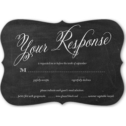 RSVP Cards: Chalked Union Wedding Response Card, Bracket Corners, Black found on Bargain Bro India from shutterfly.com for $2.28
