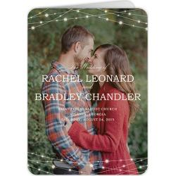 Wedding Program Cards: Glowing Bright Wedding Program, Beige, 5x7 Folded Program