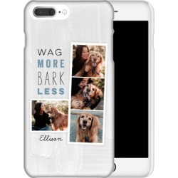 Custom iPhone Cases: Best In Show Wag More Filmstrip iPhone Case, Slim case, Matte, iPhone 8 Plus, Grey found on Bargain Bro Philippines from shutterfly.com for $44.99