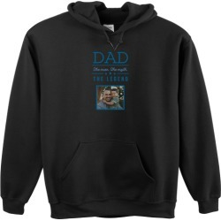 Custom Hoodies: Dad Legend Custom Hoodie, ADULT_HOODIE_SINGLE_SIDED, S, Black, Blue found on Bargain Bro Philippines from shutterfly.com for $49.99