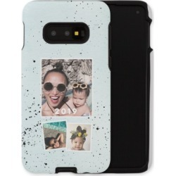 Samsung Galaxy Cases: Splatter Samsung Galaxy Case, Silicone liner case, Matte, Galaxy S10E, Blue, Phone Case found on Bargain Bro India from shutterfly.com for $57.99