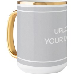 Mugs: Upload Your Own Design Mug, Gold Handle, 15oz, Multicolor, Ceramic Mug found on Bargain Bro from shutterfly.com for USD $22.79
