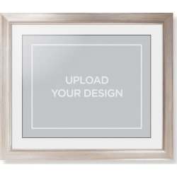 Framed Prints: Upload Your Own Design Framed Print, Metallic, Modern, Black, White, Single piece, 16x20, Multicolor found on Bargain Bro Philippines from shutterfly.com for $124.98