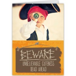 Scary Cute Halloween Card, Square Corners, Orange found on Bargain Bro India from shutterfly.com for $2.69