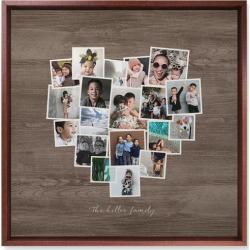 Heart Strings Wall Art, Brown, Single piece, Mounted, 16x16, Brown found on Bargain Bro from shutterfly.com for USD $106.38