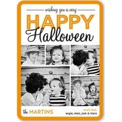 Halloween Wish Halloween Card, Rounded Corners, Orange