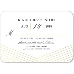 RSVP Cards: Crosshatch Perfection Wedding Response Card, Rounded Corners, Grey found on Bargain Bro India from shutterfly.com for $2.23