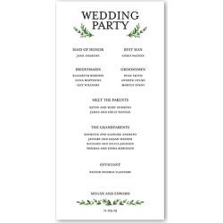 Wedding Program Cards: Serene Love Wedding Program, White, 4x8 Flat Program