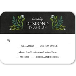 RSVP Cards: Forever Foliage Wedding Response Card, Rounded Corners, Black found on Bargain Bro India from shutterfly.com for $2.23