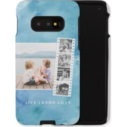 Samsung Galaxy Cases: Watercolor Filmstrip Collage Samsung Galaxy Case, Silicone liner case, Glossy, Galaxy S10E, Blue, Phone Ca