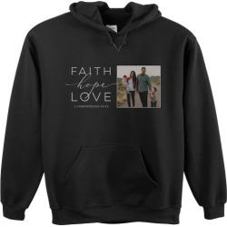 Custom Hoodies: Faith Hope Love Gallery Custom Hoodie, ADULT_HOODIE_DOUBLE_SIDED, XXL, Black, Black, Adult Unisex found on Bargain Bro from shutterfly.com for USD $41.79