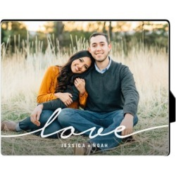 Desktop Plaques: Modern Scripted Love Desktop Plaque, Rectangle, 8 x 10 inches, White found on Bargain Bro India from shutterfly.com for $34.99