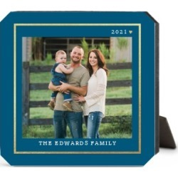 Desktop Plaques: Simply Elegant Frame Desktop Plaque, Ticket, 5 x 5 inches, Blue found on Bargain Bro from shutterfly.com for USD $22.79