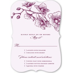 RSVP Cards: Lovely Orchids Wedding Response Card, Bracket Corners, Purple found on Bargain Bro India from shutterfly.com for $2.28