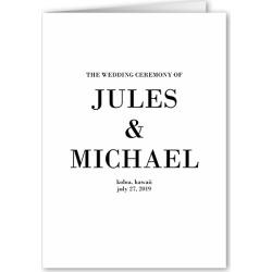 Wedding Program Cards: Enchanted Ending Wedding Program, White, 5x7 Folded Program