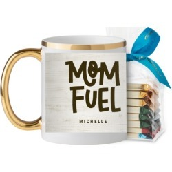Rustic Mom Fuel Mug, Gold Handle, with Ghirardelli Assorted Squares, 11oz, Brown found on Bargain Bro India from shutterfly.com for $29.98