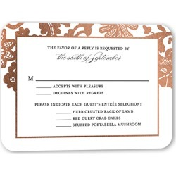 RSVP Cards: Luscious Lacing Wedding Response Card, Rounded Corners, Blue found on Bargain Bro Philippines from shutterfly.com for $34.80