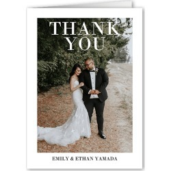 Wedding Thank You Cards: Quiet Frame Thank You Card, White, 3x5 Folded Card found on Bargain Bro India from shutterfly.com for $27.48