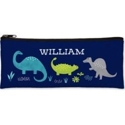 Pencil Cases: Dinosaur World Pencil Case, Green