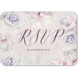 RSVP Cards: Storybook Roses Wedding Response Card, Rounded Corners, Purple found on Bargain Bro from shutterfly.com for USD $1.85