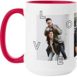 Mugs: Love You All Over Mug, Red, 15oz, White, Ceramic Mug found on Bargain Bro from shutterfly.com for USD $16.71