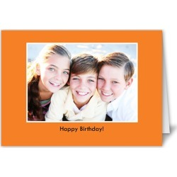 Classic Orange Halloween Card, Square Corners found on Bargain Bro India from shutterfly.com for $2.69