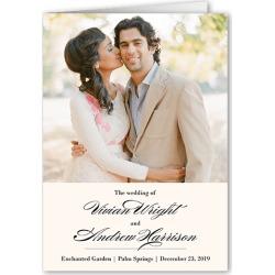 Wedding Program Cards: Grandeur Affair Wedding Program, Beige, 5x7 Folded Program