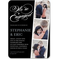 Engagement Party Invitations: Linked For Life Engagement Party Invitation, Rounded Corners, Black, 5x7 Flat Card found on Bargain Bro India from shutterfly.com for $2.89