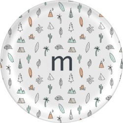 Plates: Adventure Camping Plate, 10x10 Plate, Grey