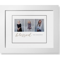 Framed Prints: Blessed Script Trio Framed Print, White, Contemporary, Black, White, Single piece, 8x10, Beige found on Bargain Bro Philippines from shutterfly.com for $94.98