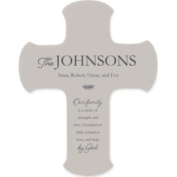 Rustic Family Name Wall Cross, Gray