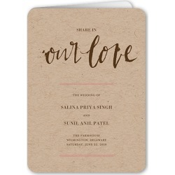Wedding Program Cards: Spectacular Splatter Wedding Program, Brown, 5x7 Folded Program
