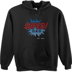 Custom Hoodies: Super Dad Custom Hoodie, ADULT_HOODIE_SINGLE_SIDED, XL, Black, Red found on Bargain Bro Philippines from shutterfly.com for $49.99